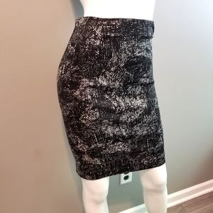 Black and Gray Stretch Pencil Skirt by Alfani